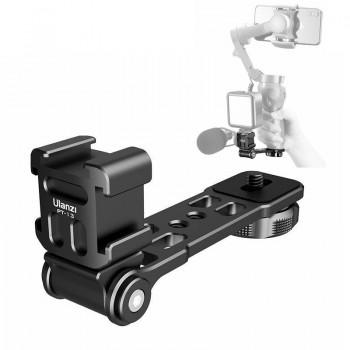 Поворотний кронштейн для мікрофона світла на штатив стабілізатор Ulanzi PT-13 / 3P