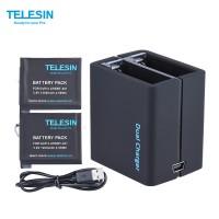 Зарядка + 2 аккумулятора TELESIN для GOPRO HERO 4