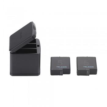 Акумулятори + зарядка TELESIN GP-BnC-502 для GoPro Hero 5 / 6 / 7
