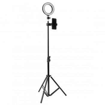 Кольцевая лампа 16см со штативом 210см AC Prof