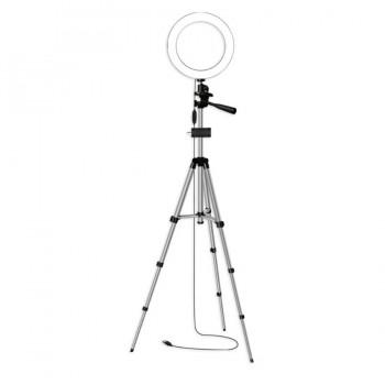 Кільцева лампа 16см зі штативом 102см AC Prof