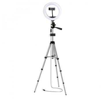Кільцева лампа 20см зі штативом 102см AC Prof