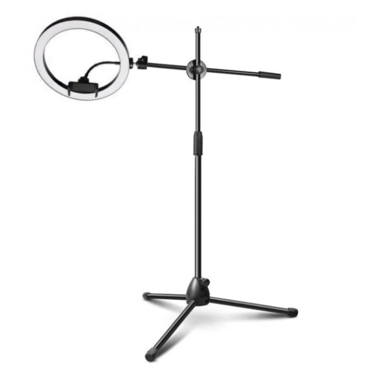 Кольцевая лампа 26см на стойке журавль 185см AC Prof