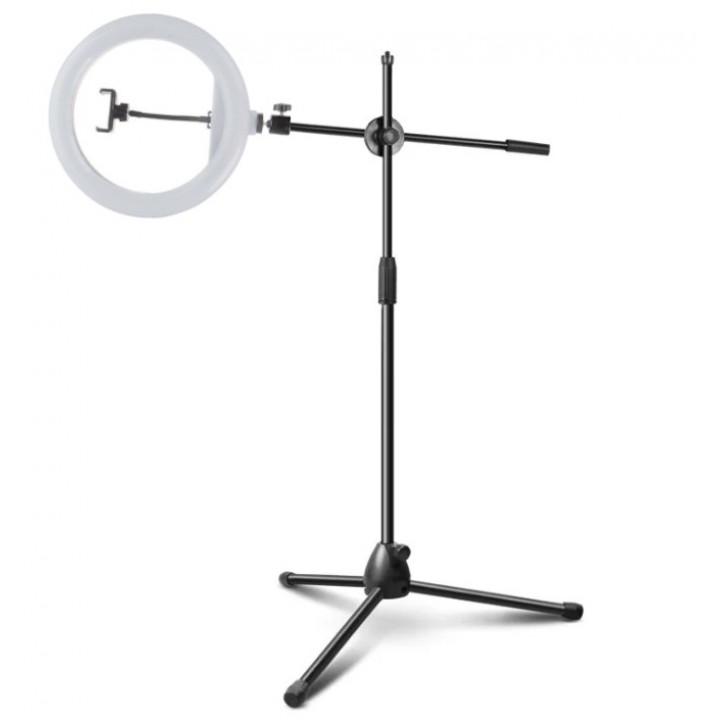 Кольцевая лампа 30см на стойке журавль 185см