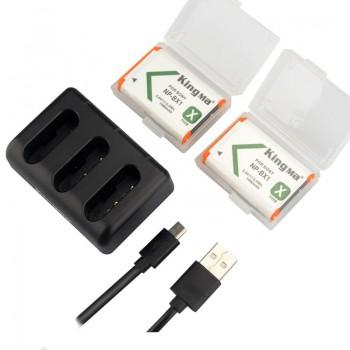 Акумулятори + зарядка для камер SONY FDR-X3000 NP-BX1