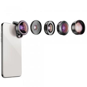 Набір об'єктивів для телефону 5в1 Apexel APL-HD5V2