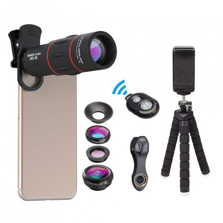 Телескоп и набор линз для телефона Apexel APL-18DG3ZJB