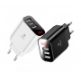 Адаптер зарядки сетевой Baseus CCALL-BH01 (3 USB)