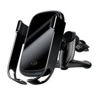 Автоматичний тримач телефону в авто з бездротовою зарядкою Baseus (WXHW01-01)