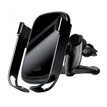 Автоматический держатель телефона в авто с беспроводной зарядкой Baseus (WXHW01-01)