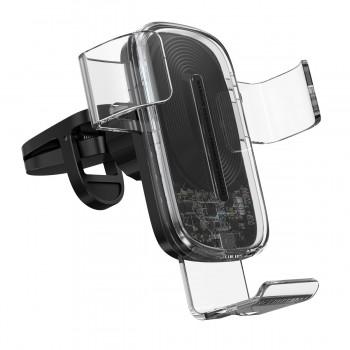 Держатель гравитационный для телефона в авто с беспроводной зарядкой Baseus WXYL-K02
