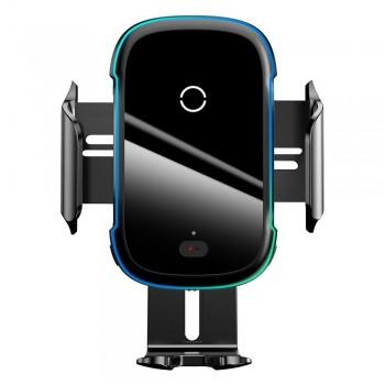 Тримач для телефону в авто універсальний з бездротовою зарядкою Qi 15Вт Baseus WXHW03-01