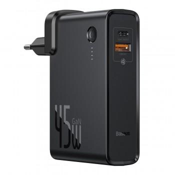 Повербанк зарядний пристрій 2в1 45Вт USB Type-C QC3 PD Baseus GaN PPNLD-C01