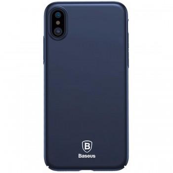 Чехол-накладка для iPhone X/Xs поликарбонат, синий Baseus WIAPIPHX-ZB15