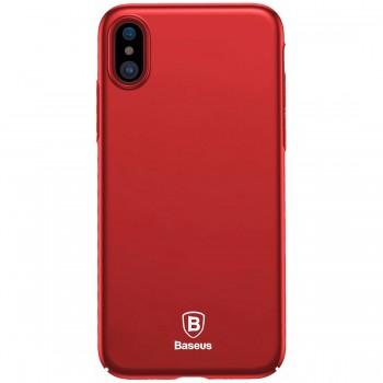 Чехол-накладка для iPhone X/Xs поликарбонат, красный Baseus WIAPIPHX-ZB09