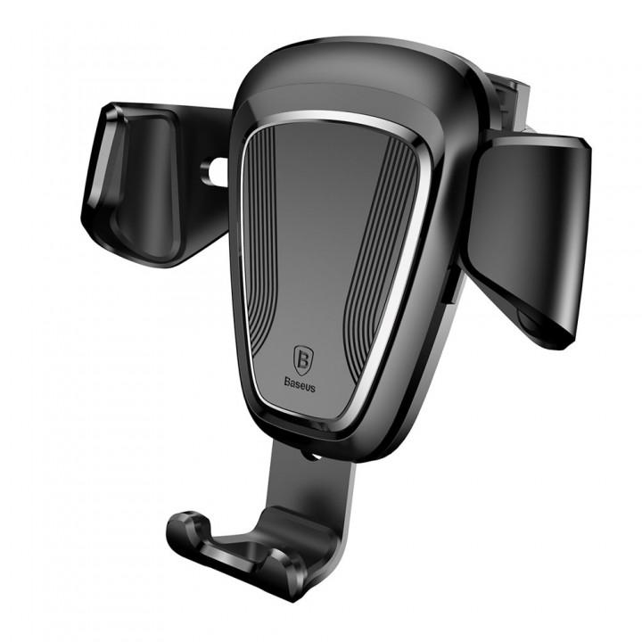 Держатель телефона в дефлектор гравитационный черный Baseus SUYL-01