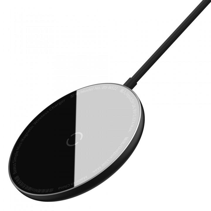 Беспроводная зарядка магнитная 15Вт MagSafe Baseus WXJK-F01
