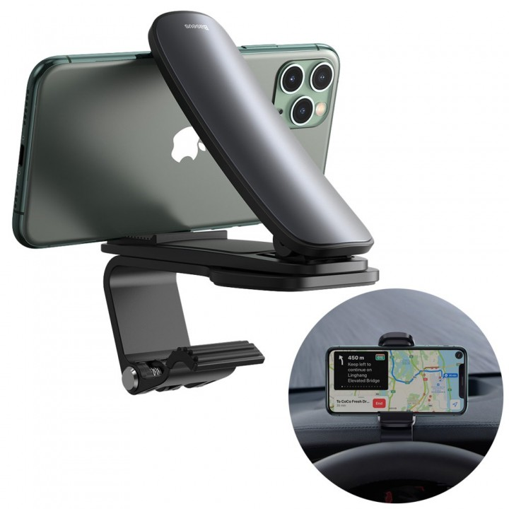 Держатель для телефон в авто горизонтальный прищепка Baseus SUDZ-A01
