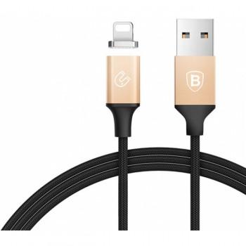 Кабель BASEUS Lightning Magnetic Cable 1.2M золото+чёрный CALNP-V1