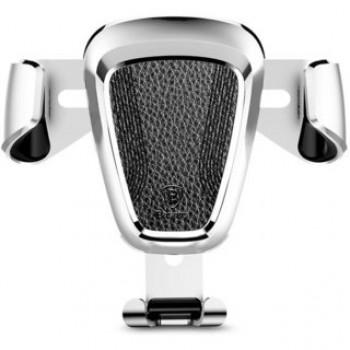 Держатель для телефона в авто BASEUS SUYL-B0S Gravity Car Mount (Metal type) Silver