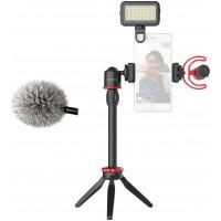 Набор блогера микрофон BY-MM1+ LED лампа штатив BOYA BY-VG350