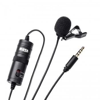 Петличний мікрофон для телефону та камер BOYA BY-M1