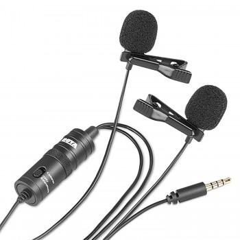 Мікрофон на дві петлички BY-M1DM для телефону камери