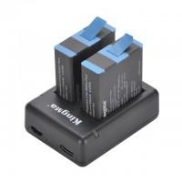 Зарядний і 2 акумулятора GoPro 9 KingMa BM059-GP9