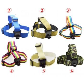 Крепление на голову цветное для GoPro SJCAM XIAOMI SONY Head Strap
