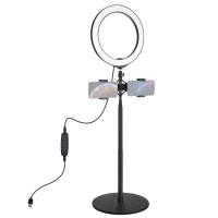 Кольцевая лампа 26см со штативом 140см Puluz PKT3040