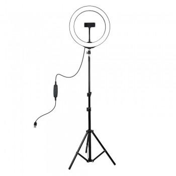 Кільцева лампа 26см на штативі 108см Puluz PKT3035