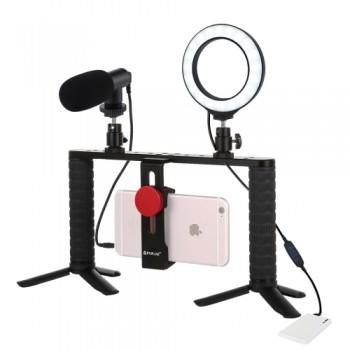 Набор блогера для телефона с кольцевой лампой Puluz PKT3028