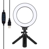 Кольцевая лампа настольная 16см Puluz PKT3059B
