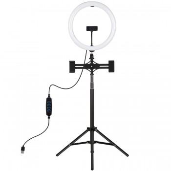 Кільцева лампа косметолога 30см зі штативом 165см Puluz PKT3062B