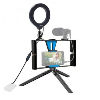 Ріг для телефону з кільцевою лампою Puluz PKT3026L