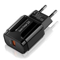 Адаптер быстрой зарядки 18Вт 3А QC3.0 Puluz SYA001078901A