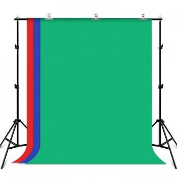 Фон хромакей з тримачем 2x2м зелений синій червоний Puluz PKT5204