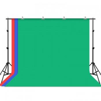 Фон хромакей с держателем 3x2м зеленый синий красный Puluz PKT5205