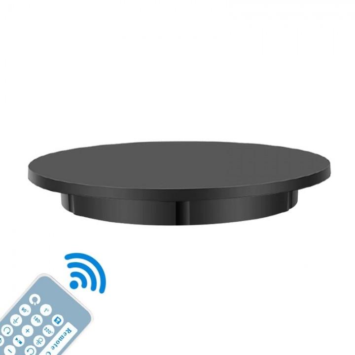 Предметный стол поворотный 60см пульт черный Puluz DCA1272B