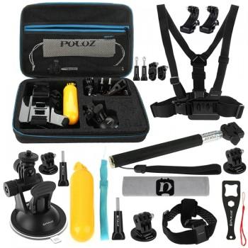 Набор креплений Puluz 20в1 в кейсе для экшн-камер