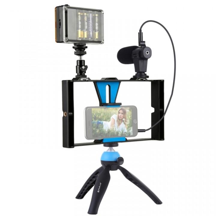 Набор блогера Puluz: микрофон, риг, свет, штатив