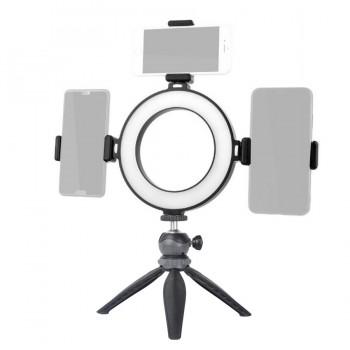 Кольцевая лампа 16см с тремя креплениями для телефона Beike QZSD QM-01