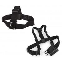 Крепление на голову и грудь - набор 2в1 для экшн-камеры