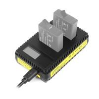 Зарядка LCD для аккумуляторов GoPro Hero 5 / 6 / 7