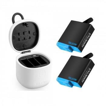 Зарядний пристрій і акумулятори GoPro Hero 8/7/6/5 Telesin GP-BnG-802