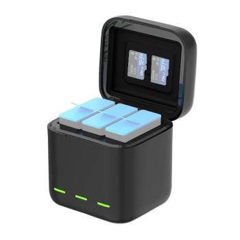 Зарядка GoPro 10 / 9 три слоти Telesin GP-BCG-901