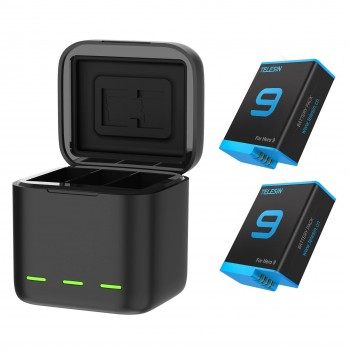 Зарядка + 2 акумулятори GoPro 10 / 9 Telesin GP-BNC-901