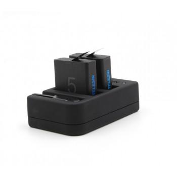 Аккумуляторы + зарядка TELESIN для GoPro Hero 7 / 6 / 5 (GP-BnC-501)