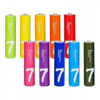 Батарейки AAA 10шт Xiaomi Alkaline Zl7 Rainbow LR03