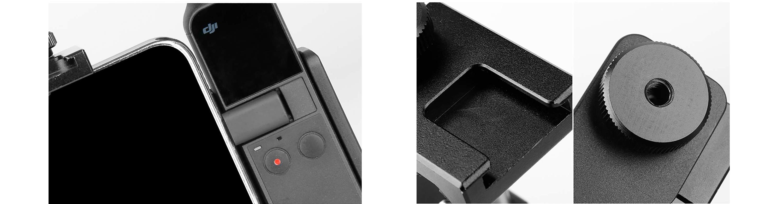 фото кріплень тримача для OSMO Pocket і телефону Ulanzi OP-1